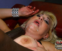 Old busty blonde granny young big black cock fuck and cumshot from Blacks on Cougars